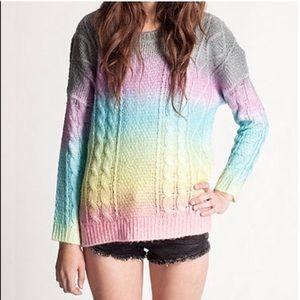 Unif rainbow cake sweater